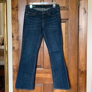 J. Crew Stretch Bootcut Blue Jeans Like New 28